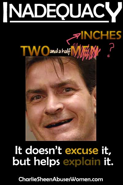 Charlie Sheen's Inadequacy: It's doesn't excuse it but helps explain it.
